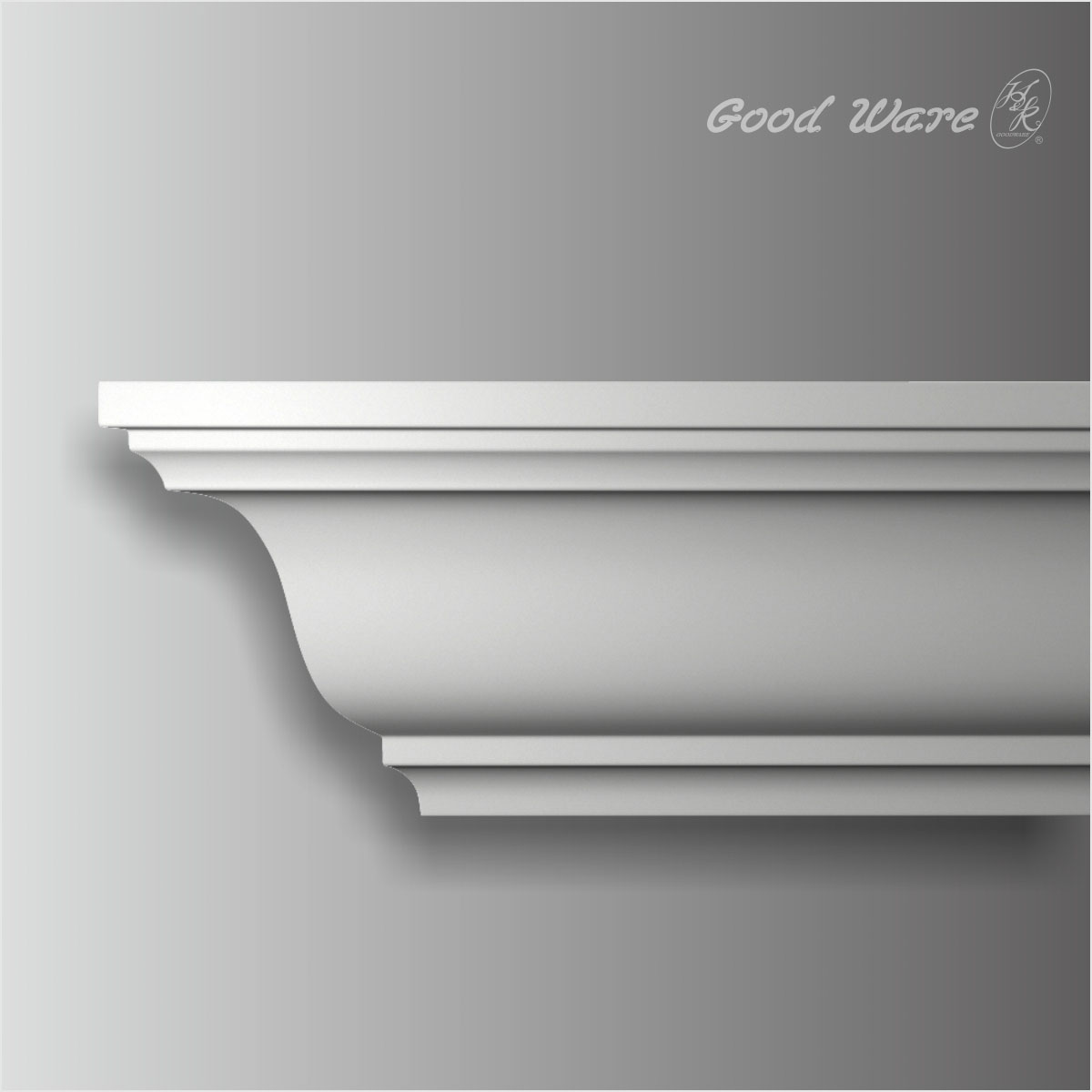Polyurethane smooth 8 inch crown moulding