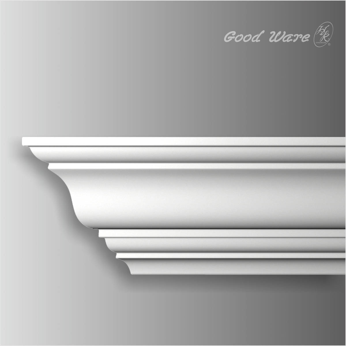 Polyurethane white door crown molding