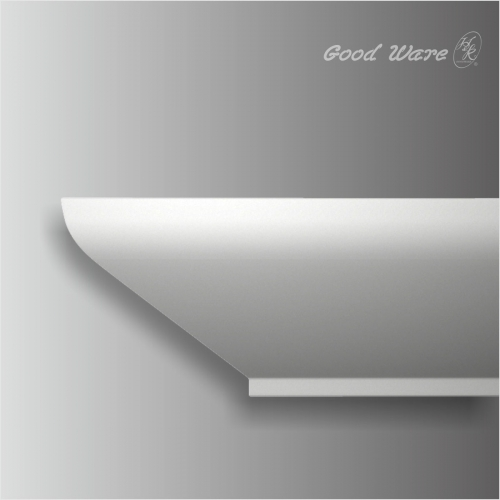Polyurethane simple white 11 inch crown moulding