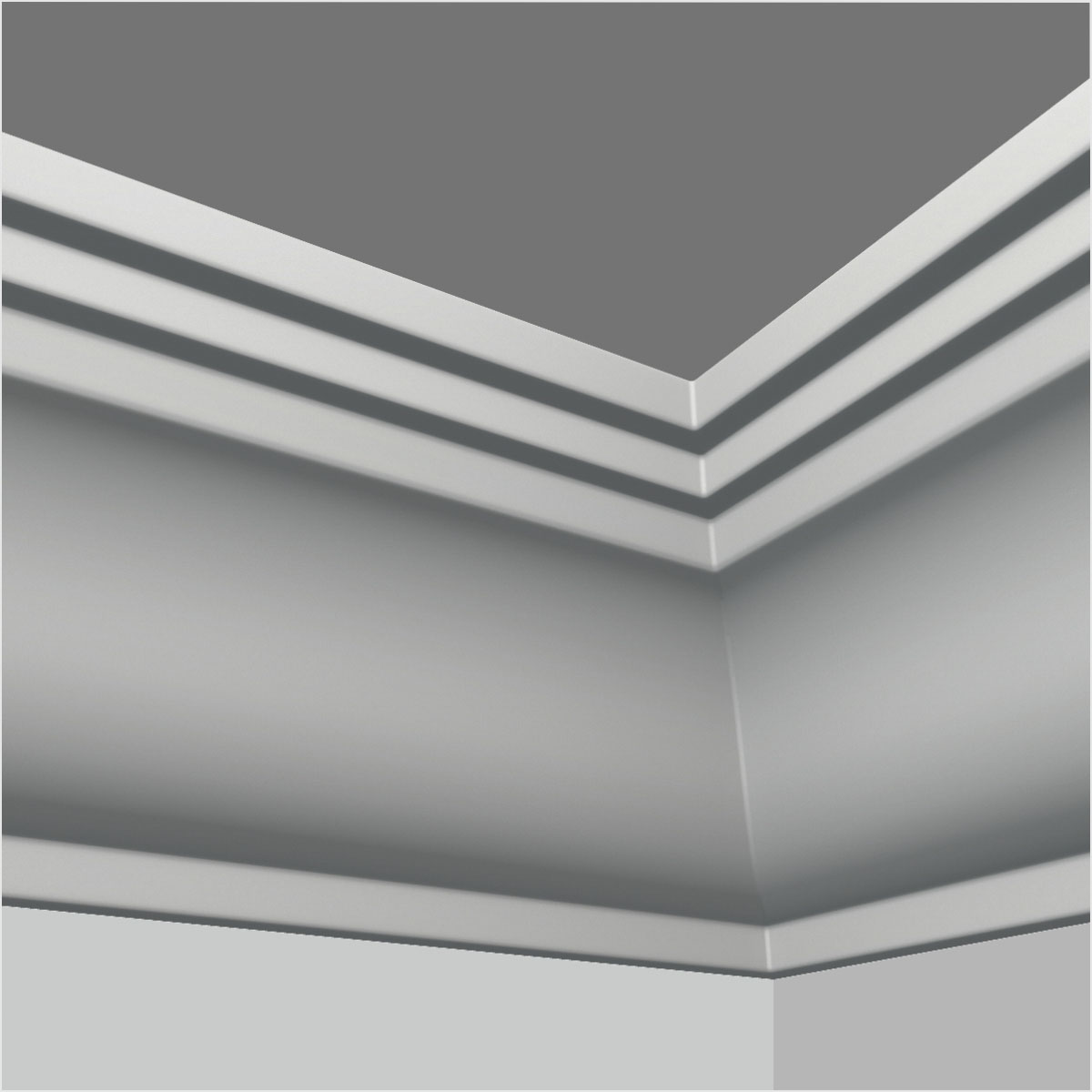 Polyurethane plain door crown moulding