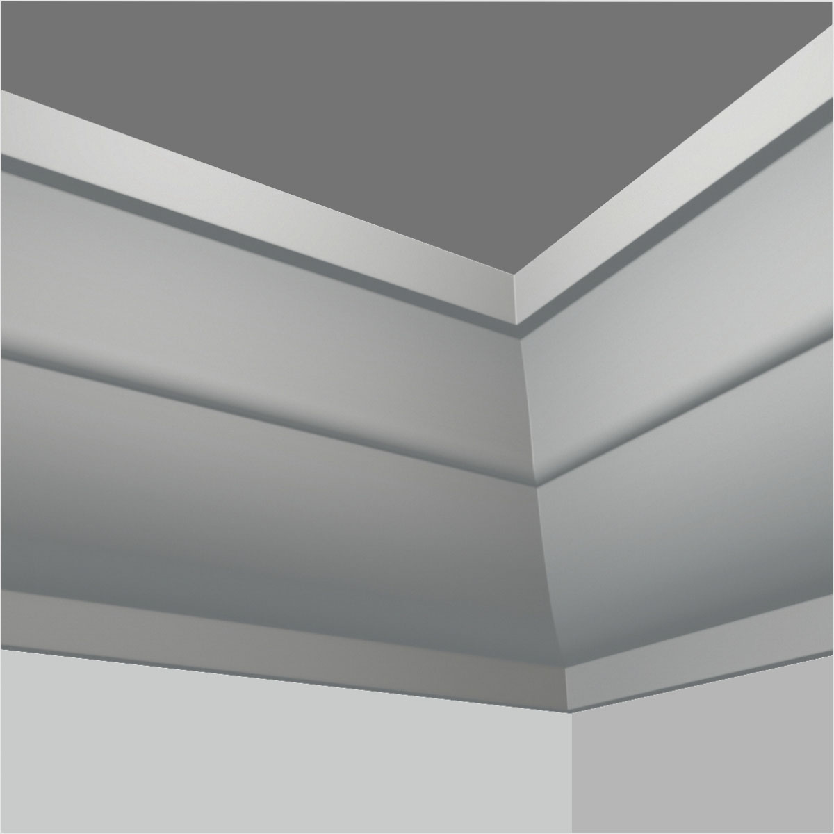 Polyurethane crown molding for high ceilings