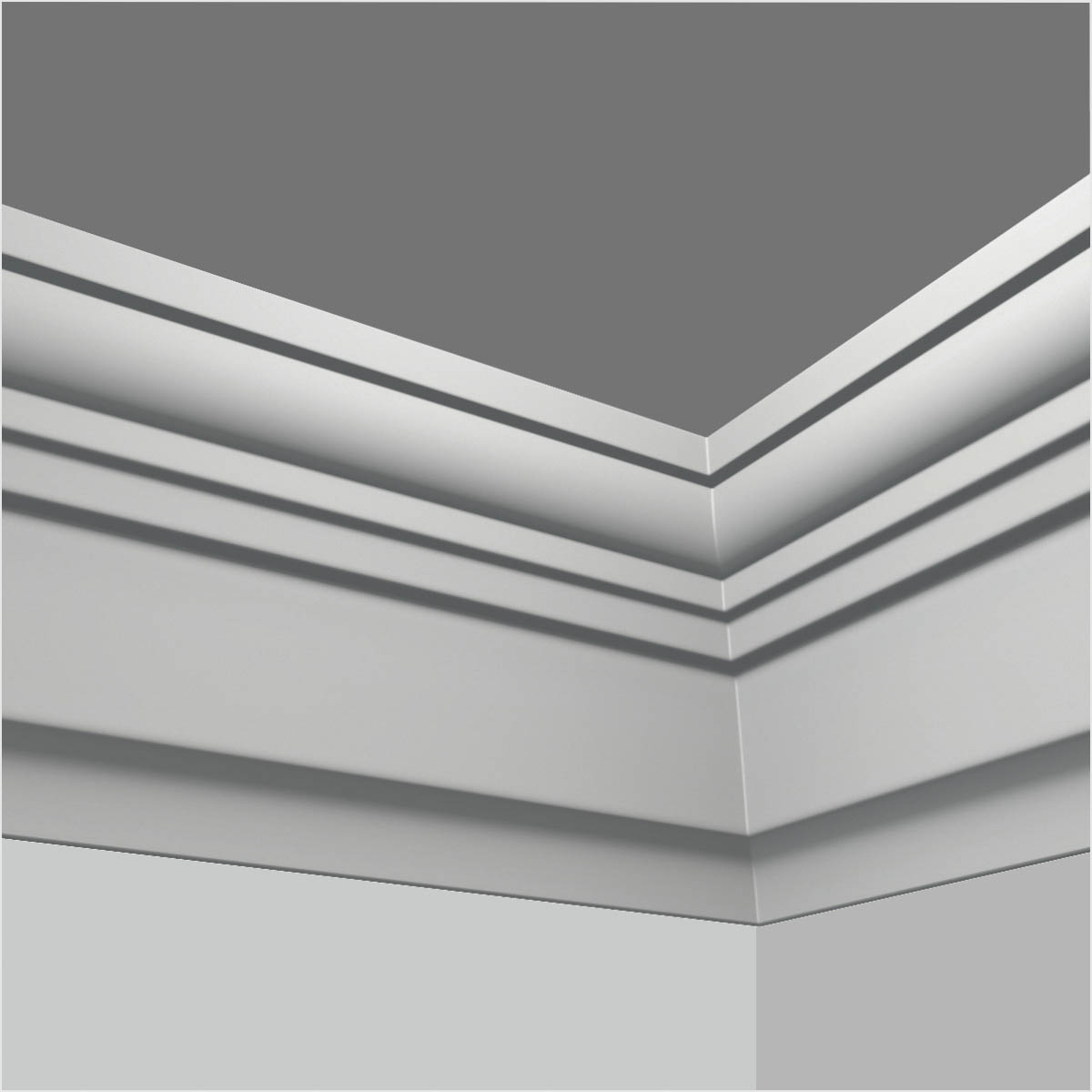 Polyurethane Contemporary Crown Molding