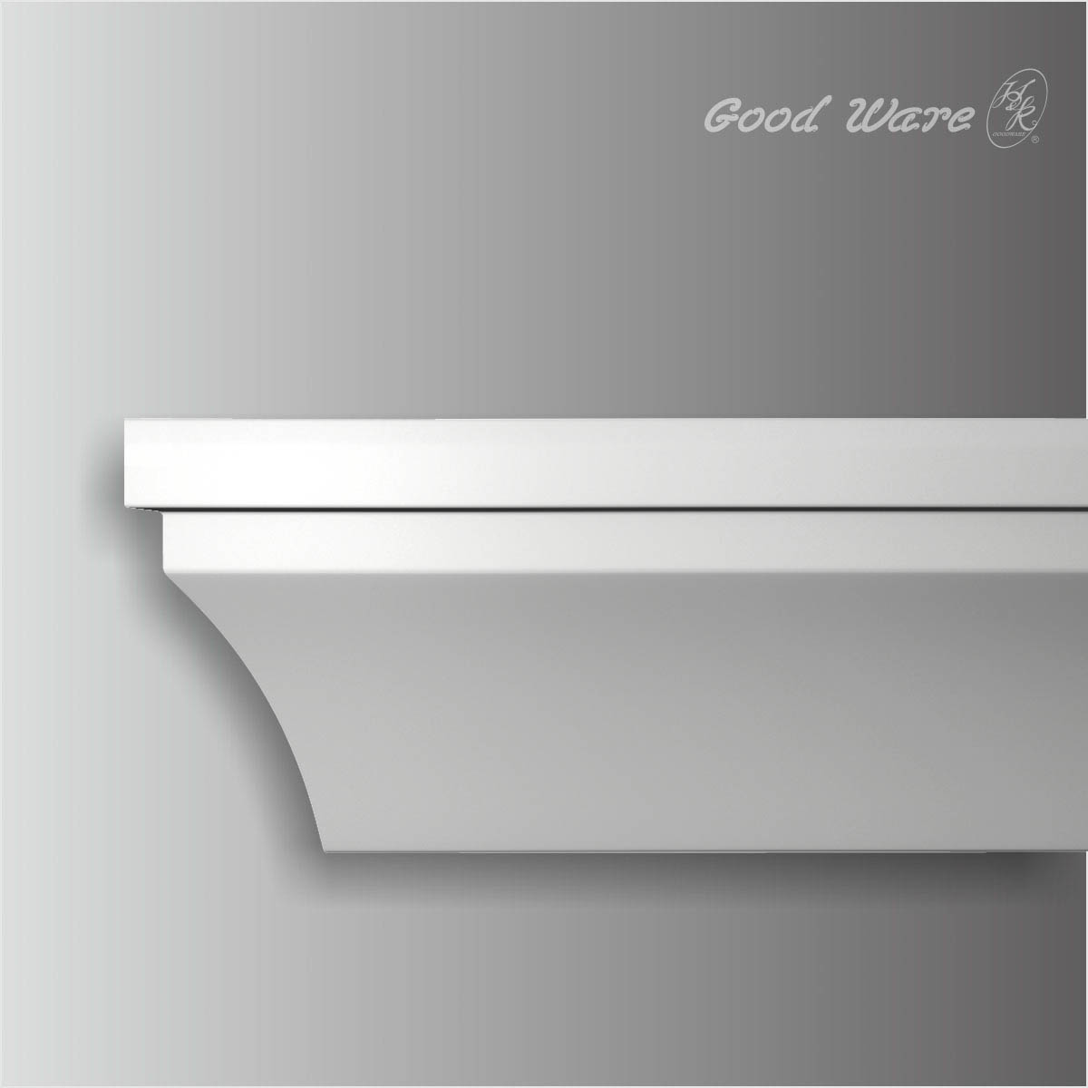 Large classic plain crown molding