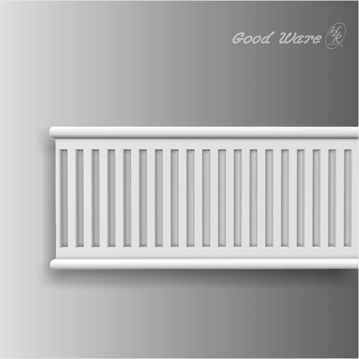 Fluted chair rail architectural mouldings