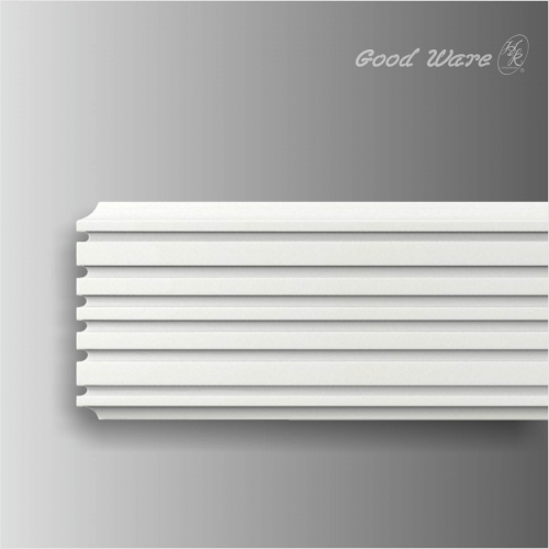 Polyurethane fluted interior window trim molding