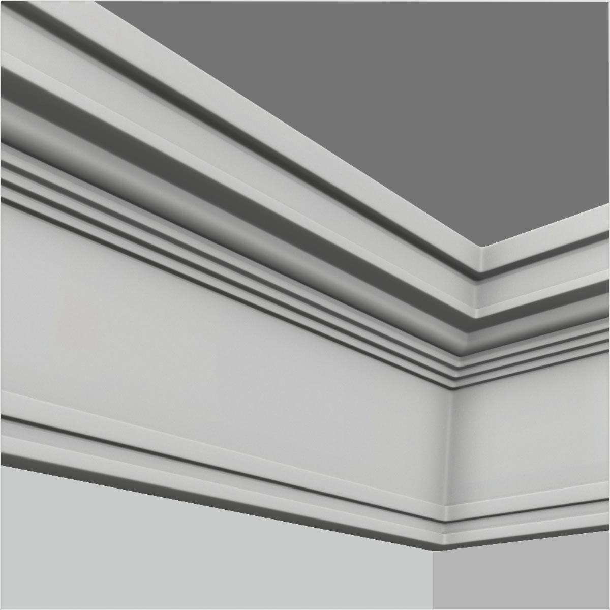 Polyurethane white simple chair rail crown molding