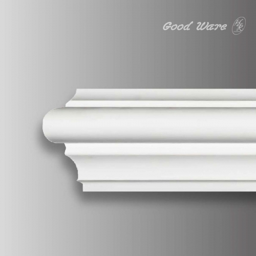 Decorative flexible curved trim molding