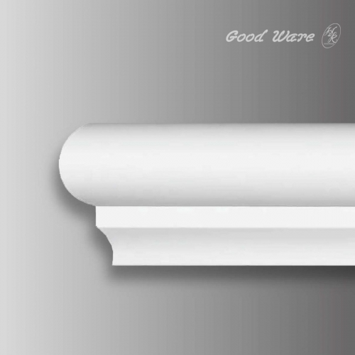 Flexible stair hand railing molding
