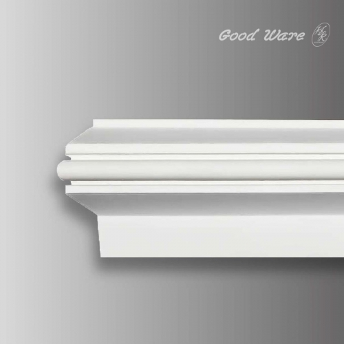 Flexible curved window molding trim interior