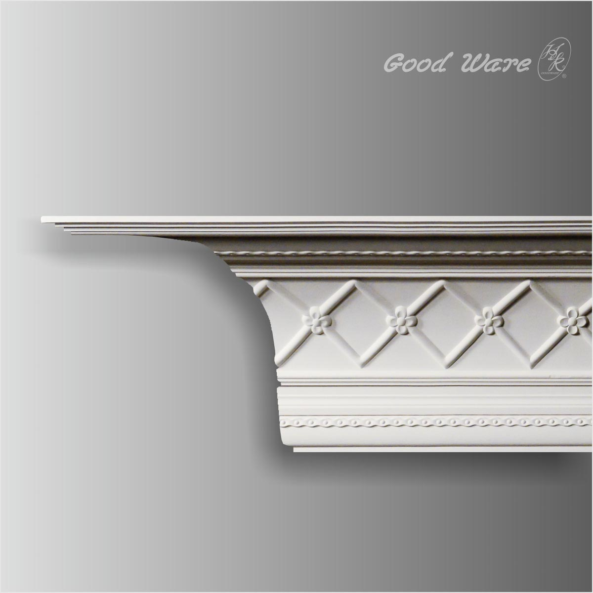 Large polyurethane antique crown molding for sale