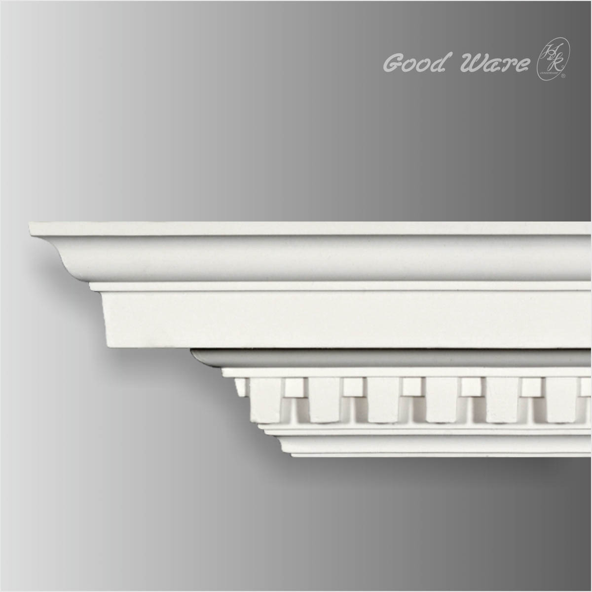 Dentil decorative cornice moulding