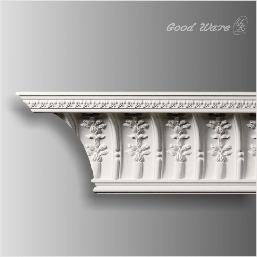 Polyurethane floral antique crown molding