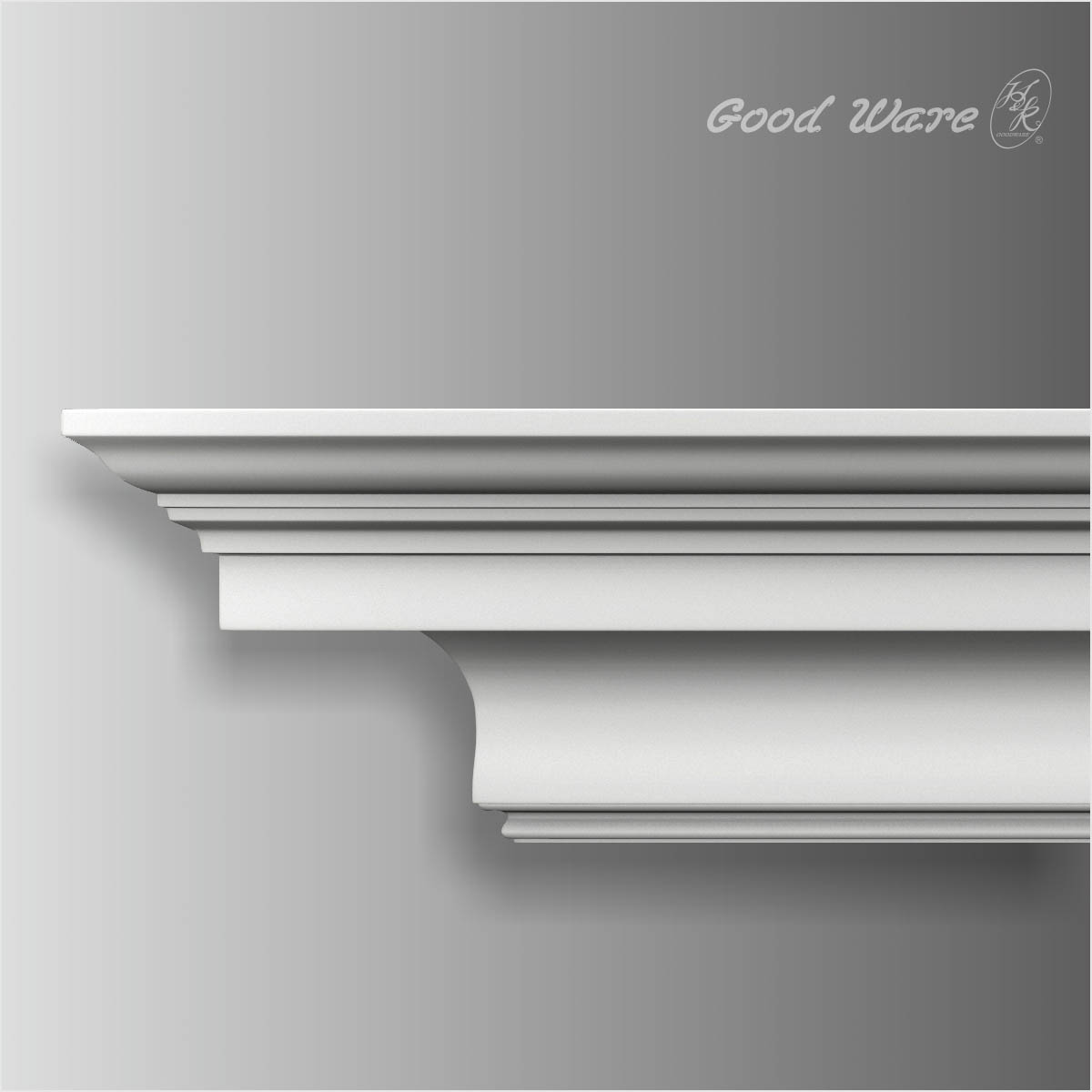 Polyurethane simple crown molding on ceiling