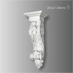WB-6101L Beaded Acanthus fireplace mantel corbels