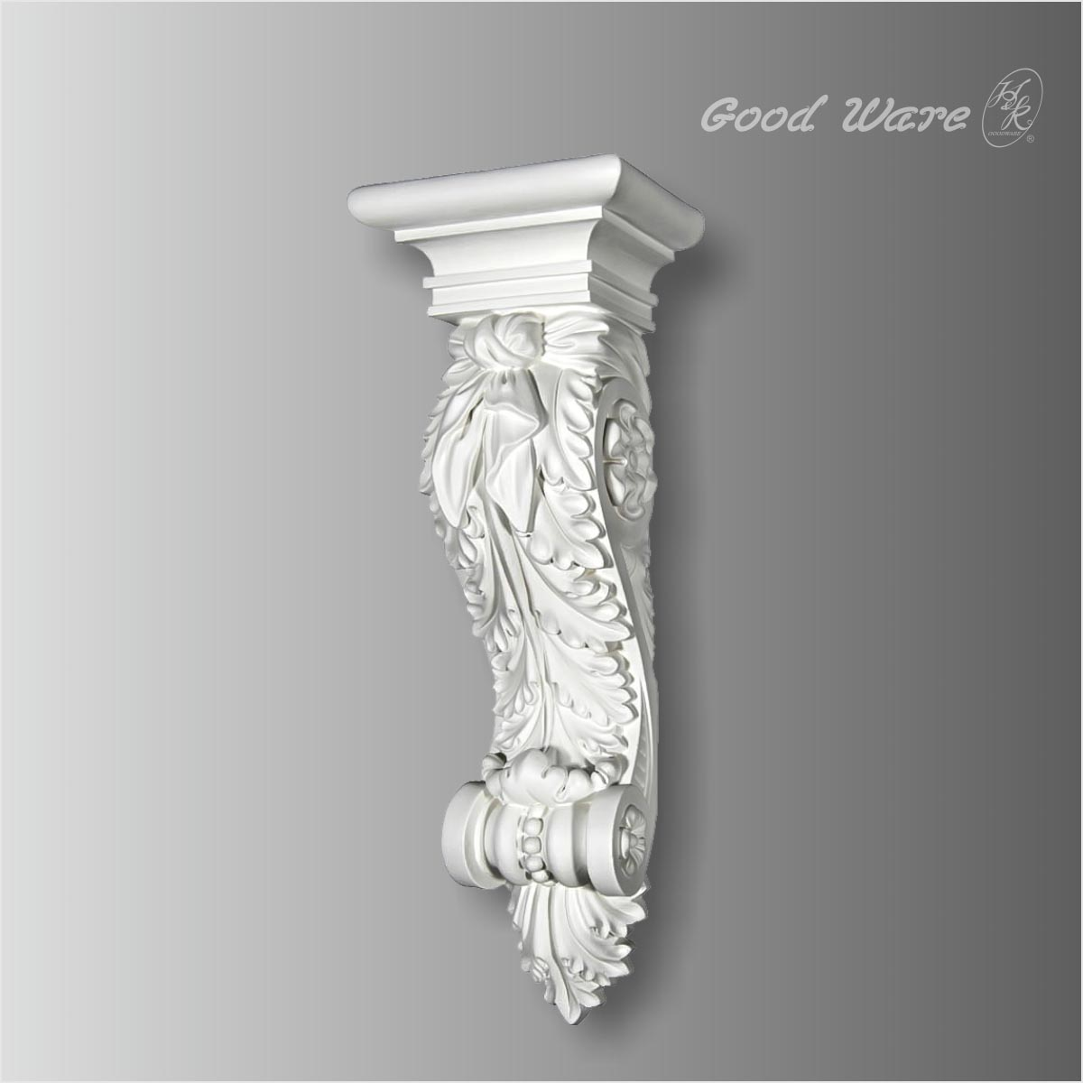 Beaded Acanthus fireplace mantel corbels