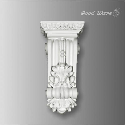 Polyurethane egg and dart baroque corbels
