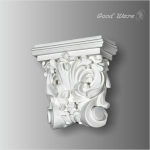 WB-6401 Polyurethane floral wall corbels and brackets
