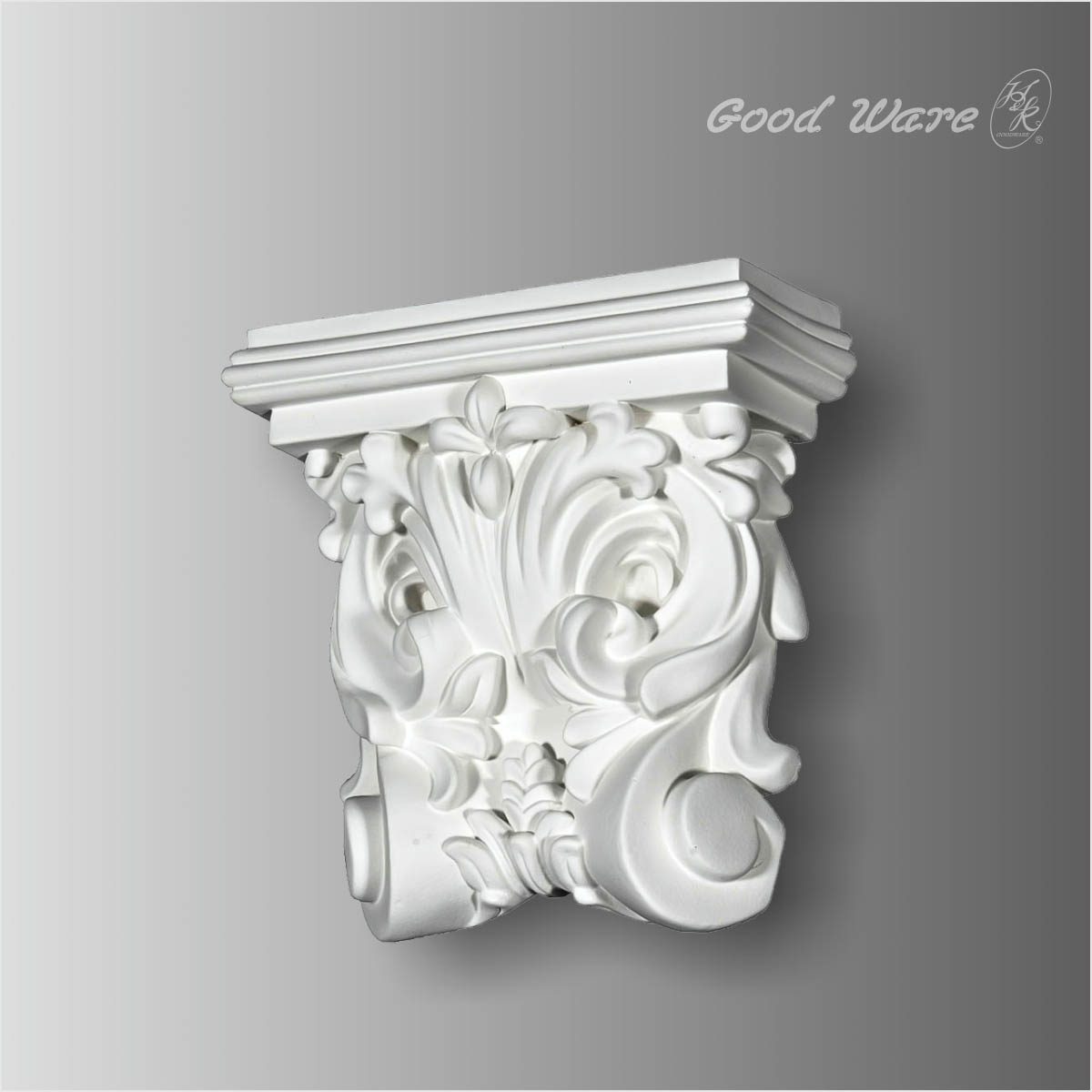 Polyurethane floral wall corbels and brackets