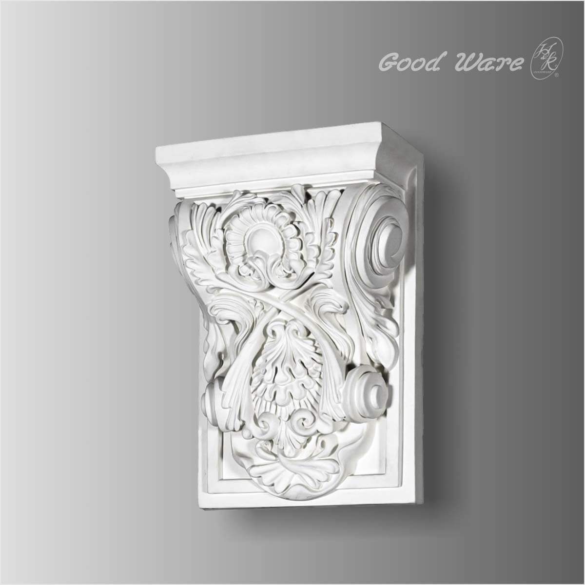 Polyurethane floral decorative brackets