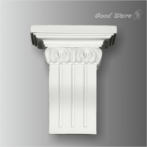 Polyurethane fluted decorative kitchen corbel