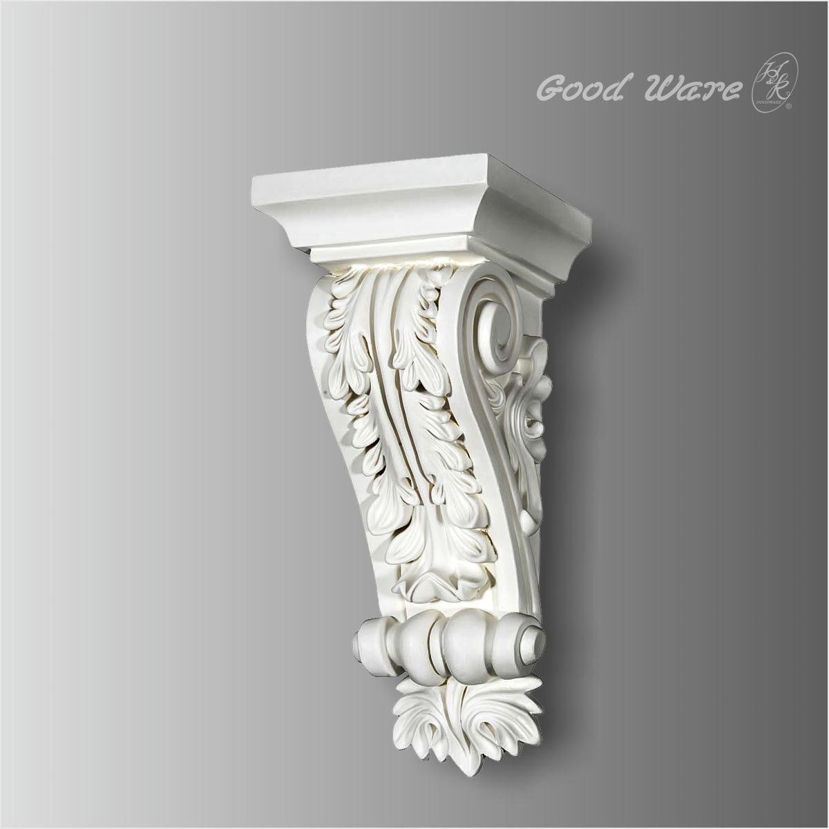 Decorative acanthus leaves polyurethane corbel