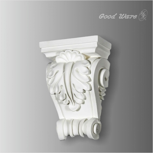 Polyurethane acanthus and shell wall corbels