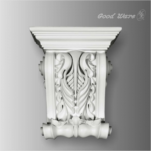 Polyurethane scroll leaf white corbels