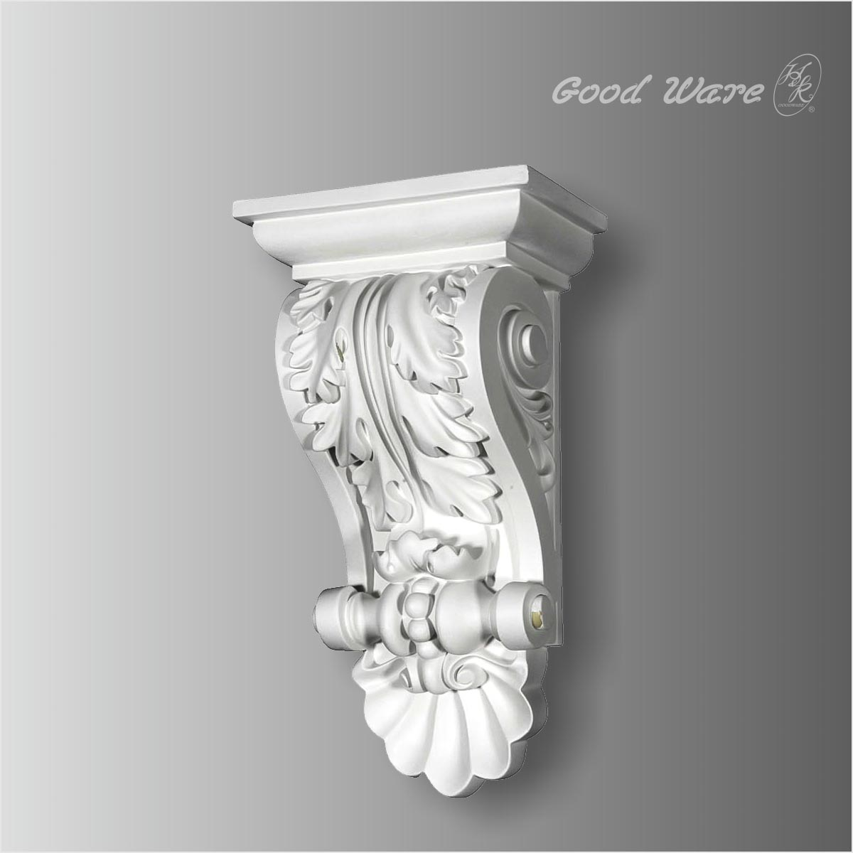 Polyurethane acanthus and shell victorian corbels