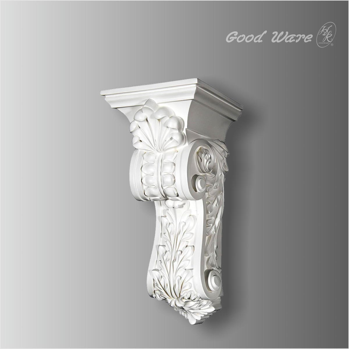 Polyurethane acanthus corbels for kitchen island