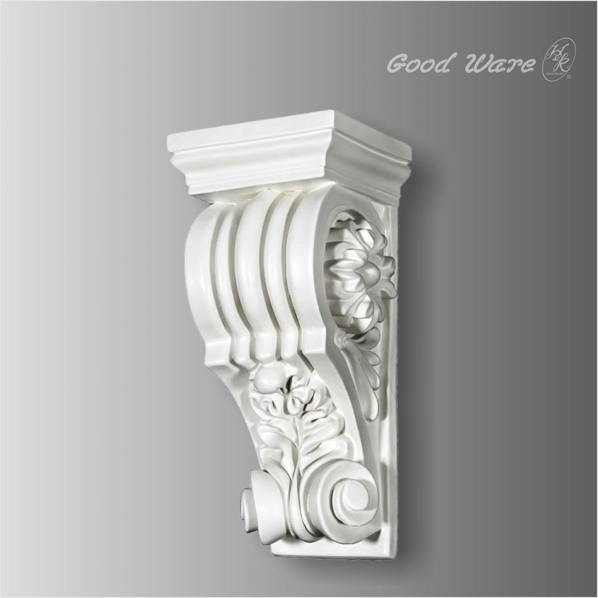 Polyurethane fluted decorative corbel for sale