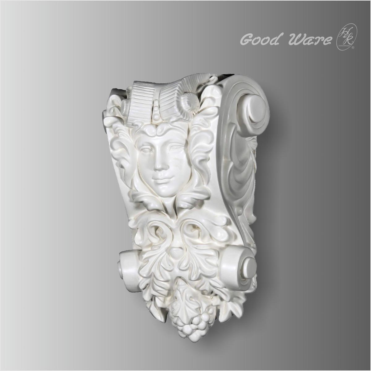 Polyurethane small decorative angel corbels