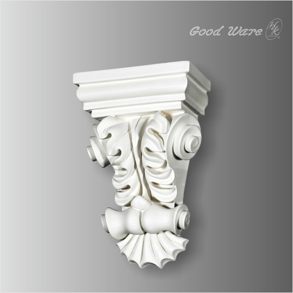 Polyurethane scroll leaf porch corbels