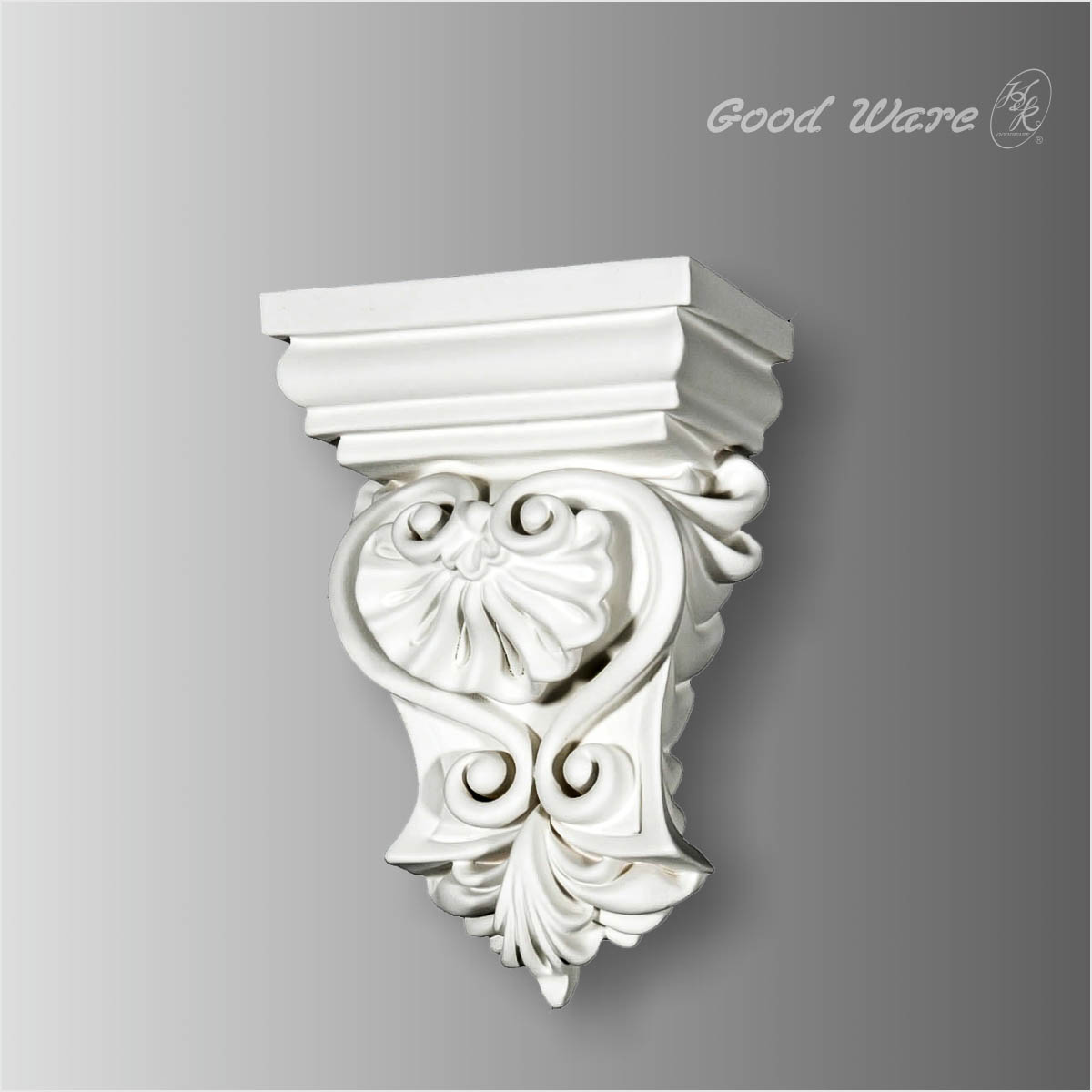 Polyurethane decorative scroll corbel