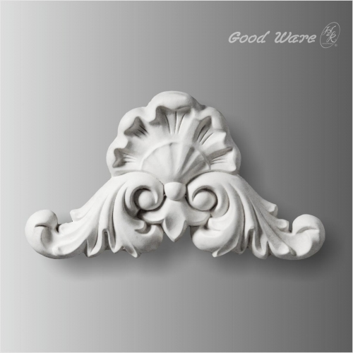 Shell centers embossed polyurethane appliques