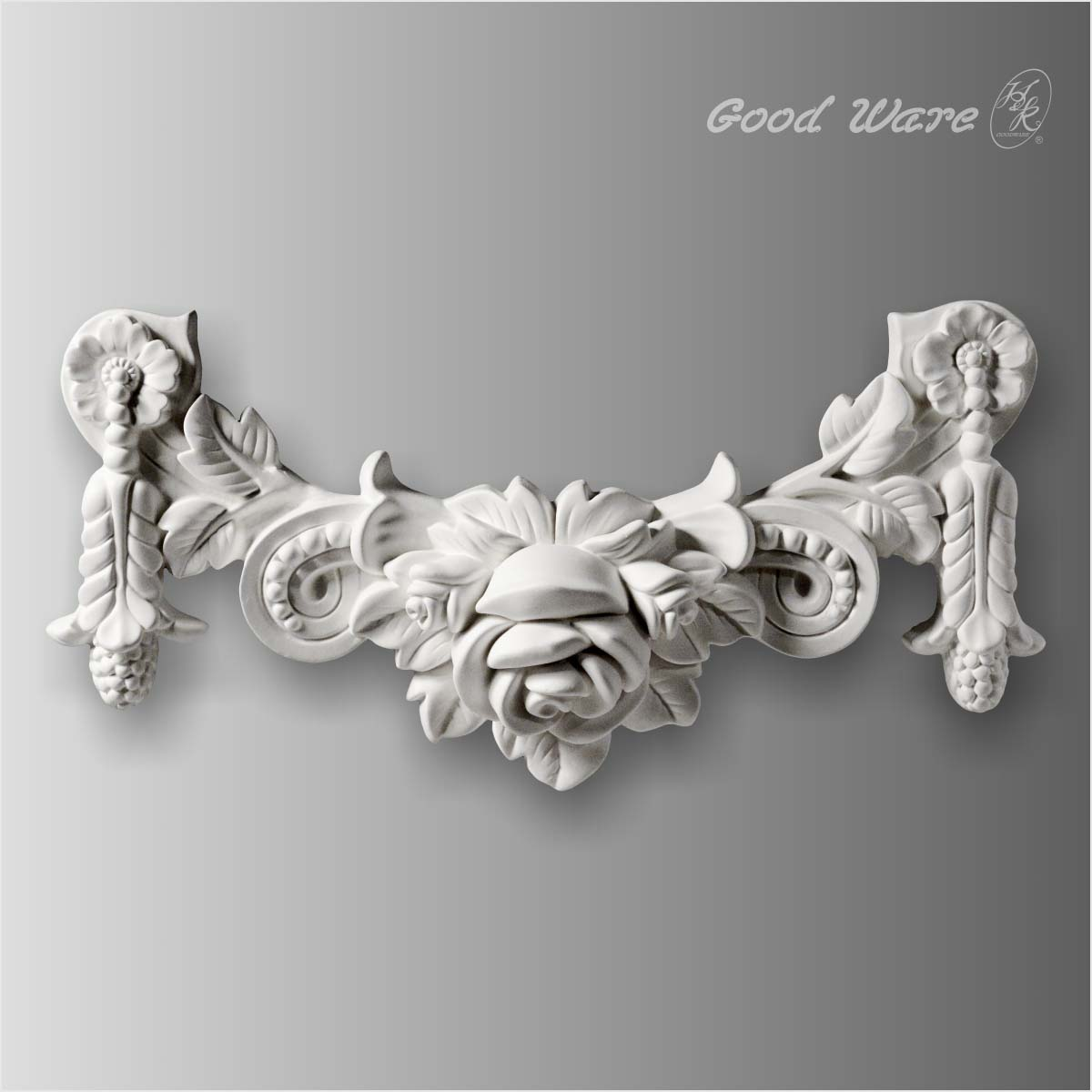 Polyurethane floral wall decor onlays