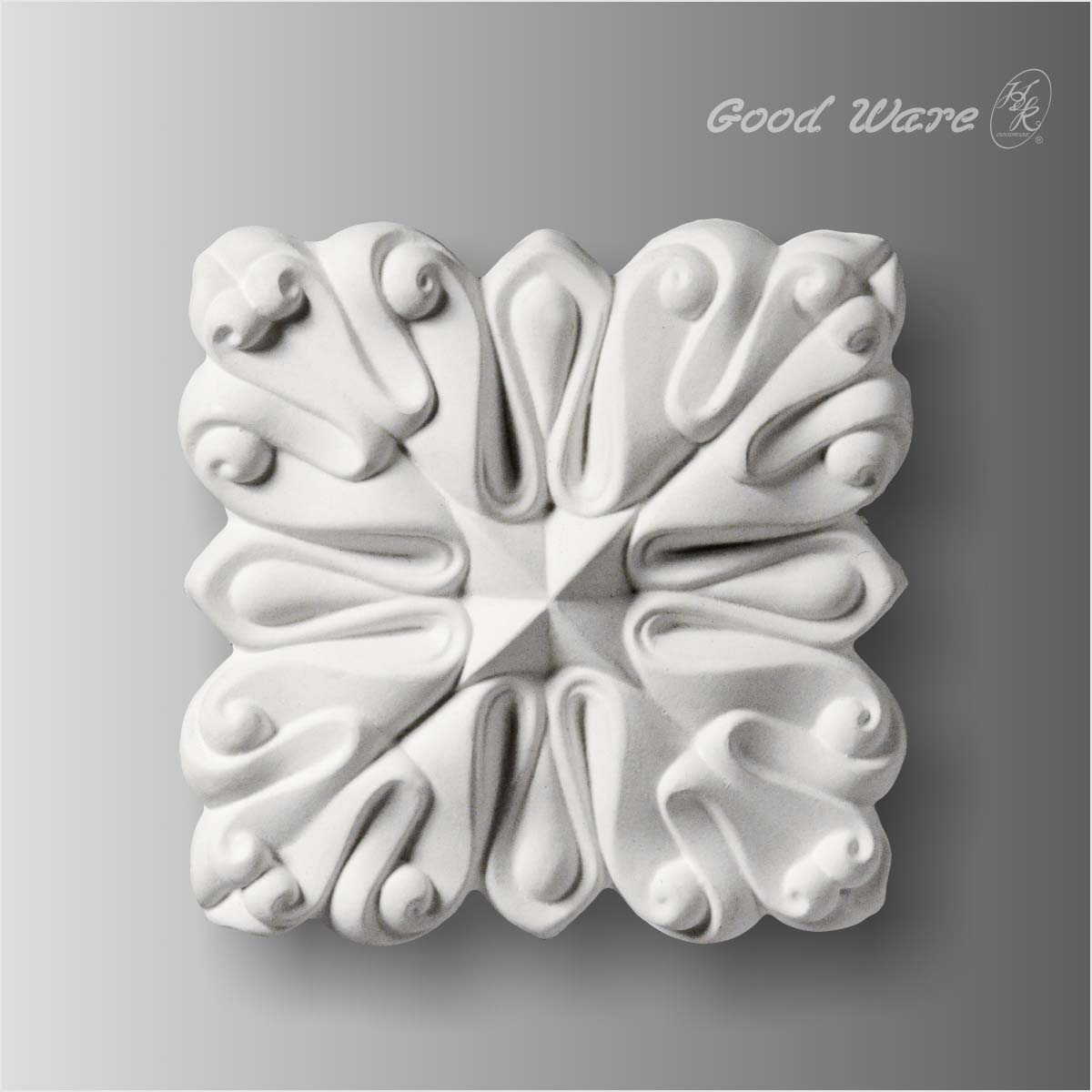 Polyurethane white onlay applique for sale