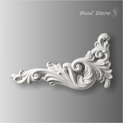 Acanthus scroll leaf appliques and onlays