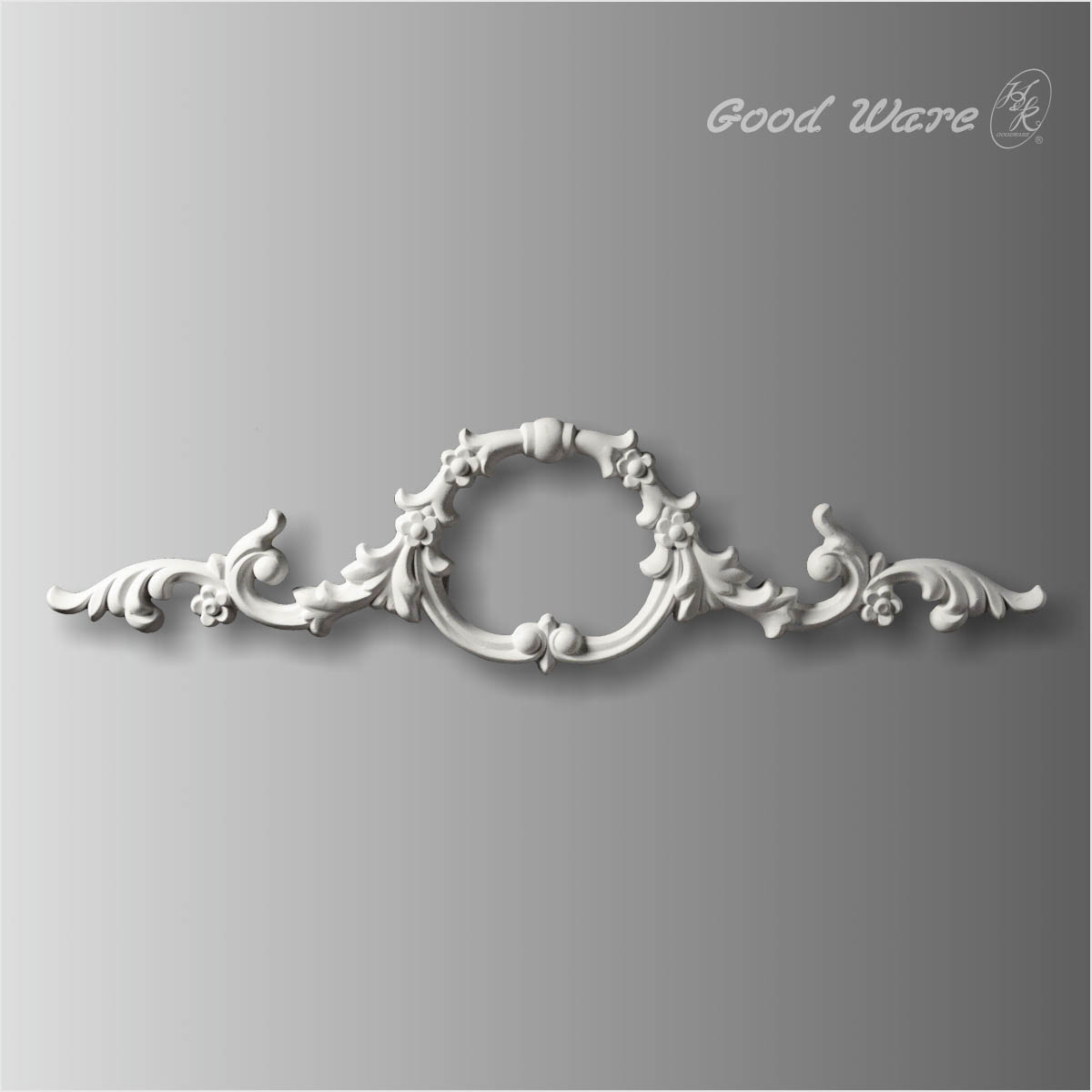 Scroll leaf decorative appliques for cabinet