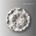 WC-8633 Polyurethane carved rosettes appliques