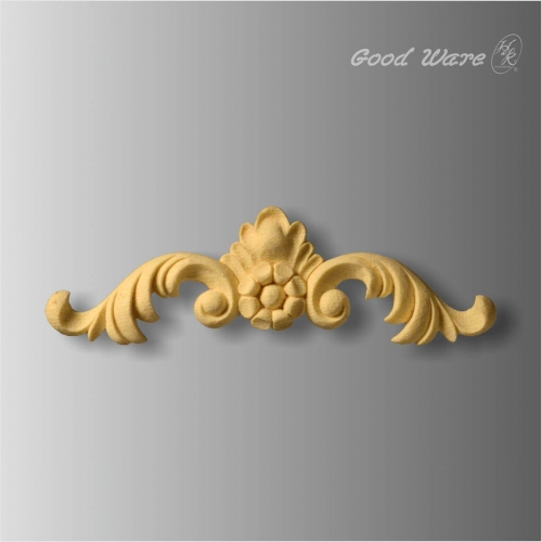 Faux wood architectural decor appliques
