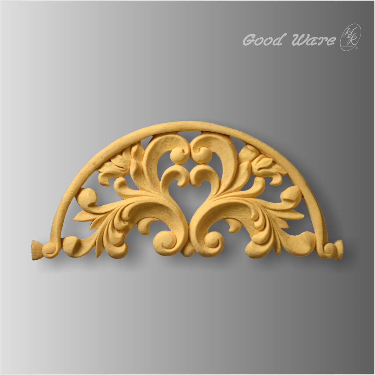 Polyurethane faux wood scroll leaf antique appliques