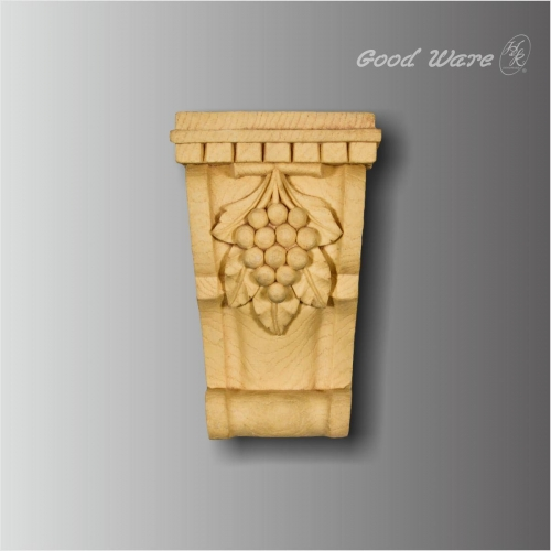 Pu faux wood grape corbel molding for sale