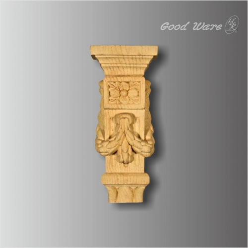 Polyurethane faux wood mantle corbels for sale