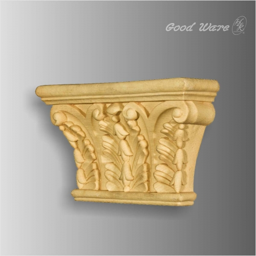Polyurethane faux wood corbel shelf brackets