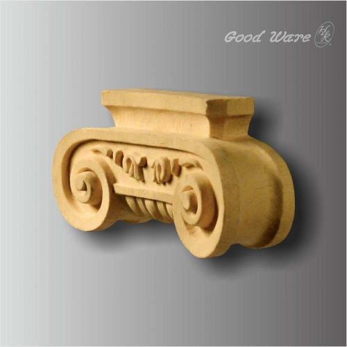 PU faux wood ionic decorative corbel shelves