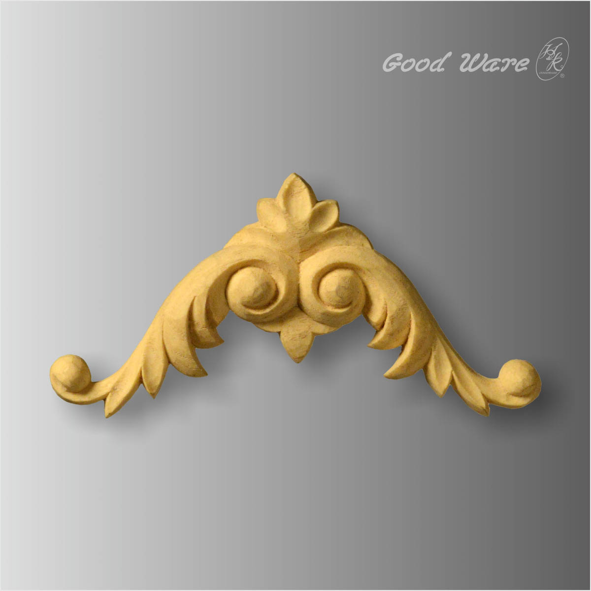 Faux wood scroll leaf furniture mouldings