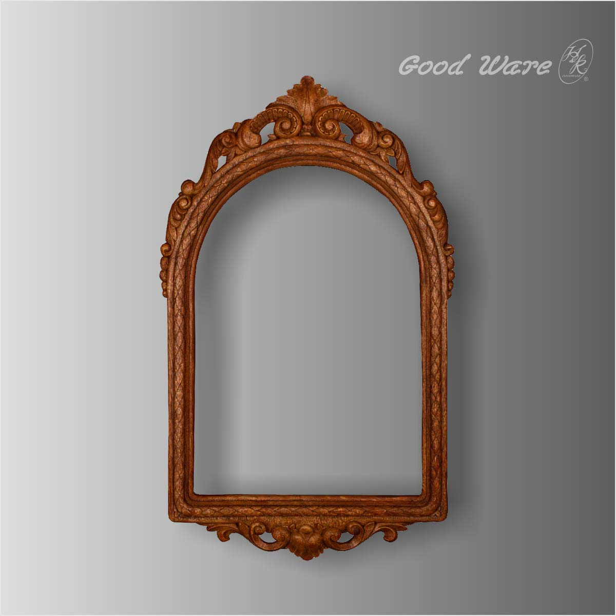 Polyurethane faux wood decorate mirror frame