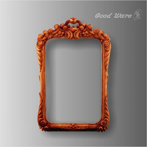 Decorative faux wood large mirror frames