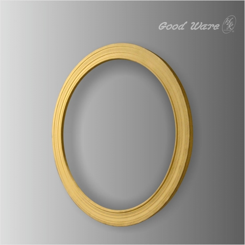 Faux wood round simple mirror frame for sale