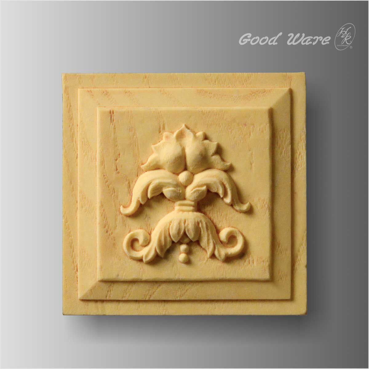 Polyurethane faux wood applique corner